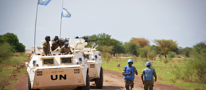 A patrol of the United Nations force in Abyei, Sudan (UN)