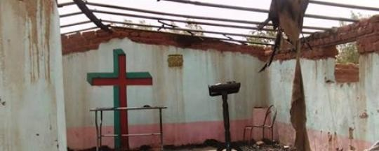 Demolished church building in Khartoum (Radio Tamazuj)