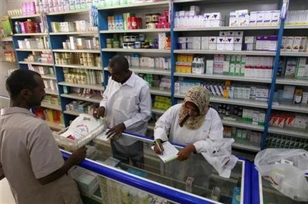 A pharmacy in Khartoum (Reuters)