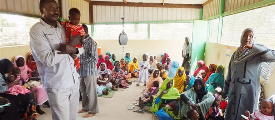 A nutrition centre of Tearfund in Darfur (Tearfund)