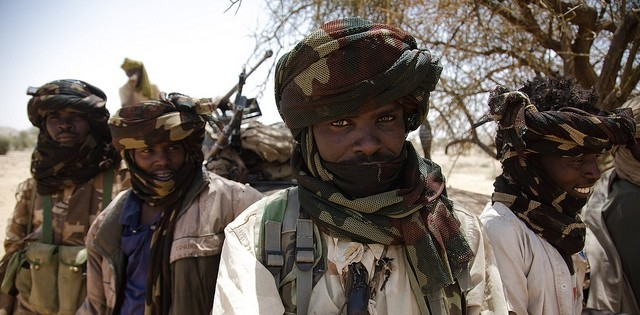 Rebel fighters of the Sudan Liberation Movement led by Minni Minawi (Olivier Chassot/UNAMID)