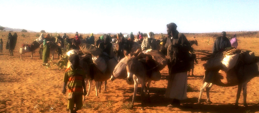People who fled their villages in northern Jebel Marra arrive at Rwanda camp in Tawila locality, North Darfur, 22 January 2016 (RD correspondent)