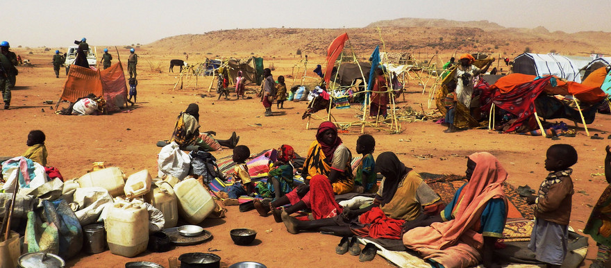 Displaced families from Jebel Marra (File photo: OCHA Sudan).