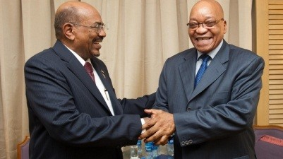 Sudan's President Omar Al Bashir and South African President Jacob Zuma (SABC)