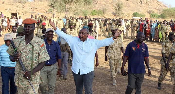 Yasir Arman, Secretary-General of the Sudan People's Liberation Movement-North (SPLM-N) on a recent visit to the Nuba Mountains (RD)