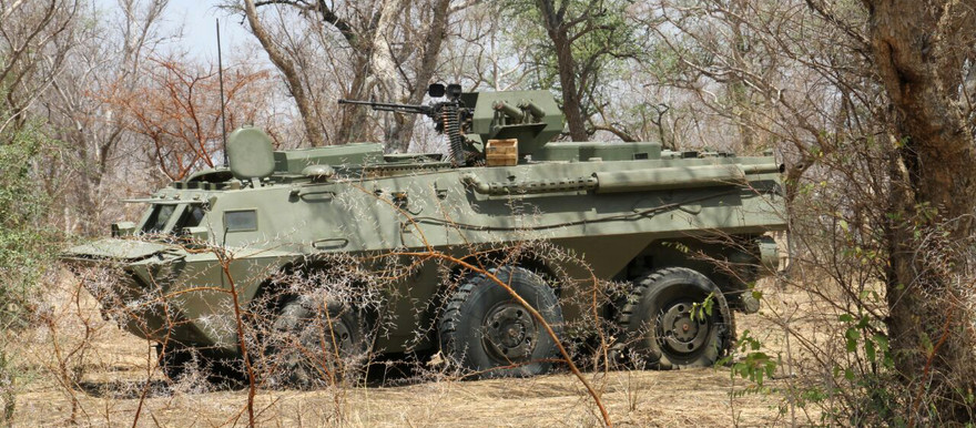 An armoured personnel carrier (APC) captured by the SPLM-N during a battle with Sudanese army and militia forces near Mufu in Blue Nile state (5 April 2016) (See more pictures below)