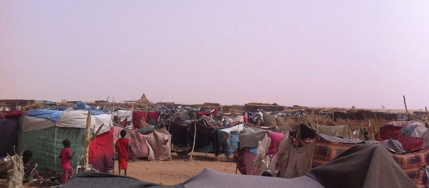 The camp Shadad in Shangil Tobaya, North Darfur, where newly displaced people from Jebel Marra have sought refuge over the past three months (RD)