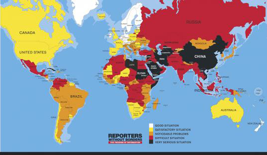 Press Freedom Index 2016