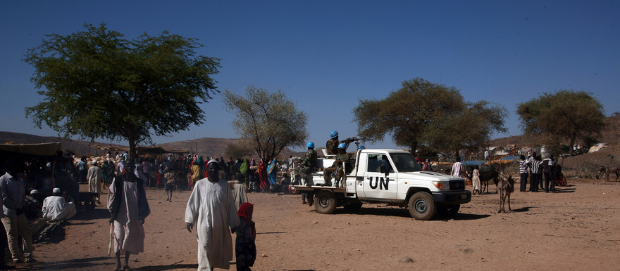 Unamid peacekeepers patrol in Sortony, North Darfur (Unamid)