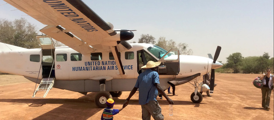 An aircraft of the UN Humanitarian Air Service (WFP/Photolibrary)