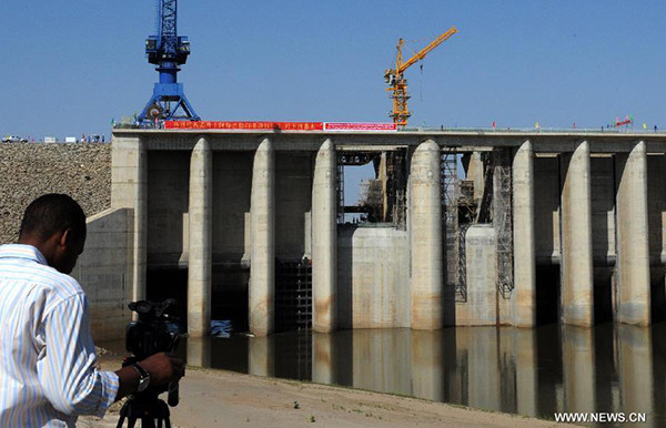 The construction of the Upper Atbara dam, which is in Kassala state in eastern Sudan (News.CN)