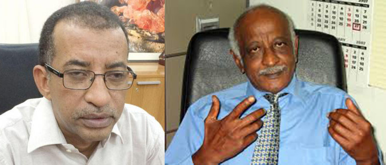 Left: Omar El Digair, President of the Sudanese Congress Party, Right: Dr Amin Mekki Medani, chairman of the civil society initiative.