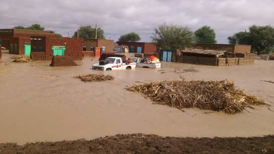 A flooded village in El Gezira, August 2016 (file photo)
