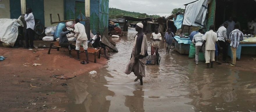 Several neighbourhoods and half of the market in Um Dukhun, Central Darfur, were flooded after five days of torrential rains in the beginning of August (RD)