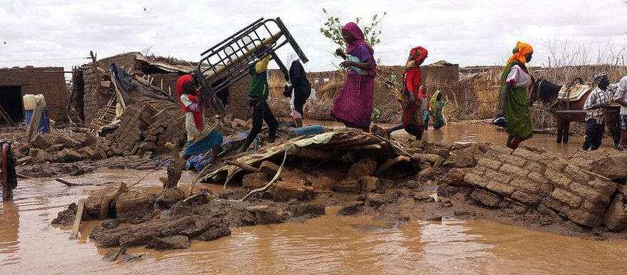 Flooded streets in Shangil Tobaya, North Darfur (Ahmed Addouma/Unamid)