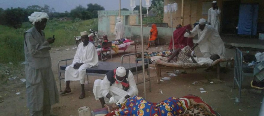 A medical ward in Blue Nile, Sudan, where patients with watery diarrhoea receive treatment in September this year (RD)