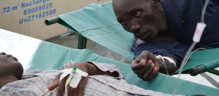 A total of 484 cholera cholera cases were reported in South Sudan by the end of June 2015, following an outbreak in Juba (Samir Bol/AFP)