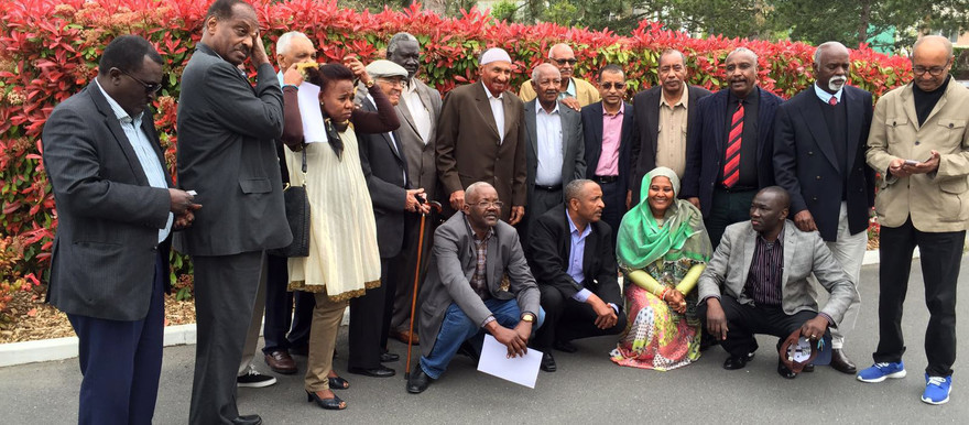 Representatives of the 20 opposition groups that signed the Sudan Appeal document in 2014 meet in Paris, April 2016 (RD)