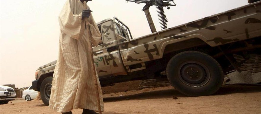 A vehicle of the Sudanese forces, mounted with a machinegun (file photo)