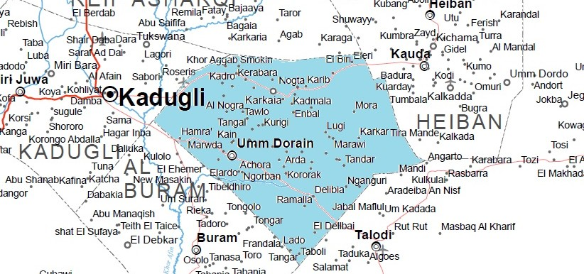 Um Dorain locality (OCHA map of South Kordofan)