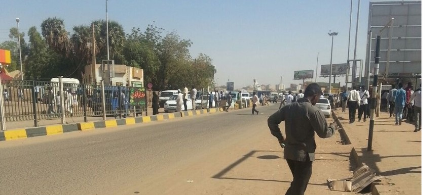 Khartoum on the first day of the civil disobedience action (RD)