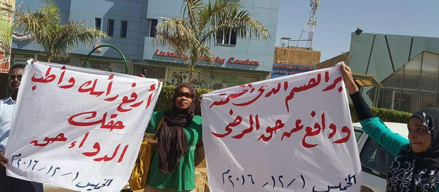 Pharmacists stage sit-in in Khartoum against the austerity measures (RD)