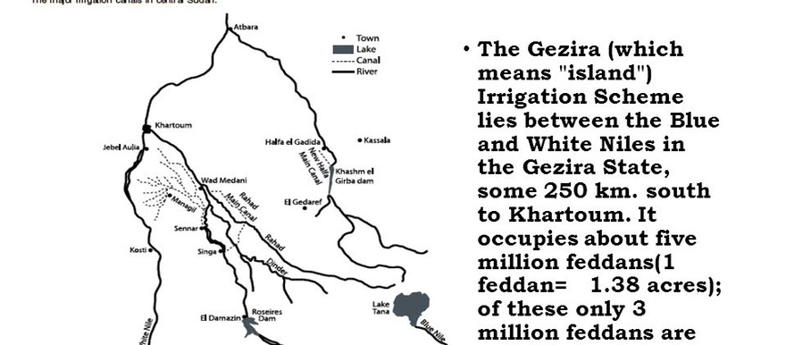 Map of El Gezira and El Gezira Scheme (sideplayer)