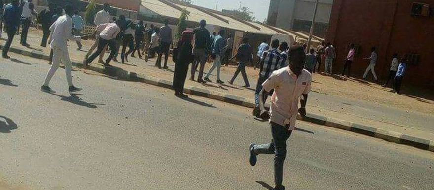 Street in Khartoum near the Sudan University at the time of the clash on 22 December 2016 (file photo)