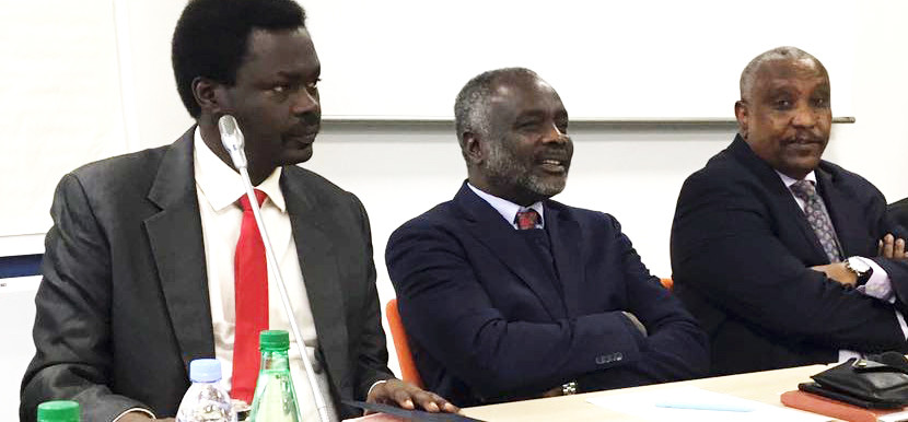 Sudan Liberation Movement -MM leader Arko Minni Minawi, Justice and Equality movement leader Jibril Ibrahim, Secretary-General of the Sudan People's Liberation Movement-North, Yasir Arman at the Paris meeting.