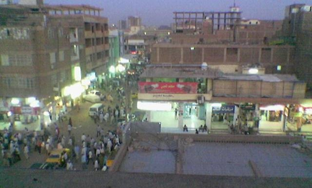 El Soug El Arabi in downtown Khartoum by night (Mapia.net)