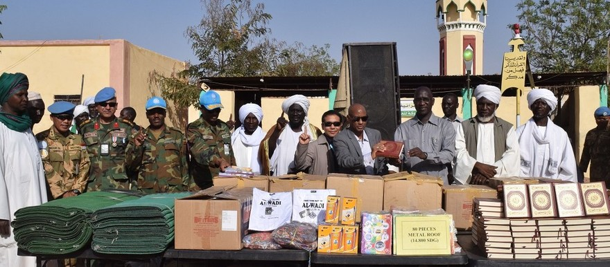 Unamid hands over building and education materials in West Darfur on 19 February (Indonesian Battalion, Unamid)