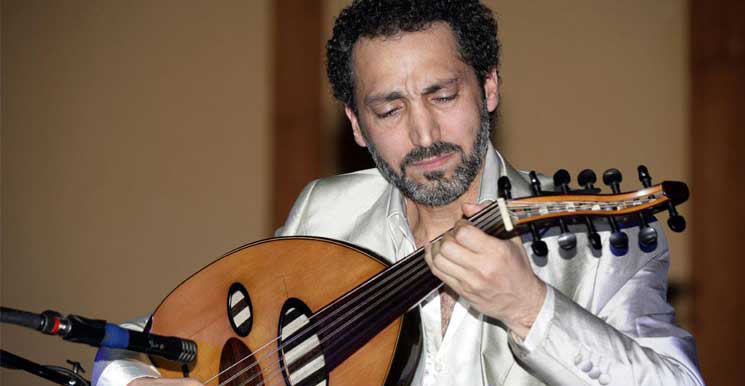 Oud virtuoso Naseer Shamma (File photo: alquds.co.uk)