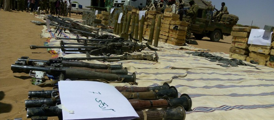 A number of weapons collected during the arms collection campaign in states of Darfur last year (RD)