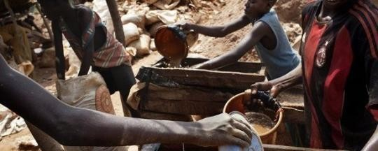 Gold miners in North Kordofan (File photo)