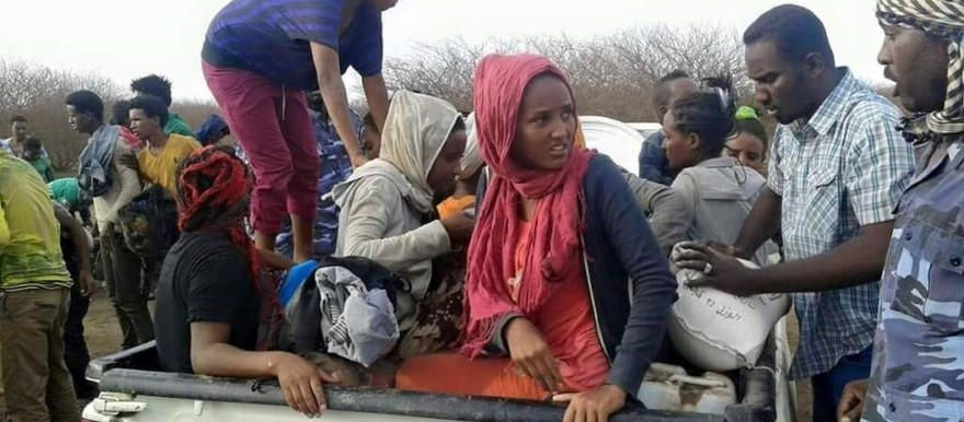 Eritrean refugees freed from human traffickers (File photo)
