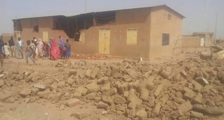 Demolished church building in Soba Aradi in south-east Khartoum (photographer unknown)