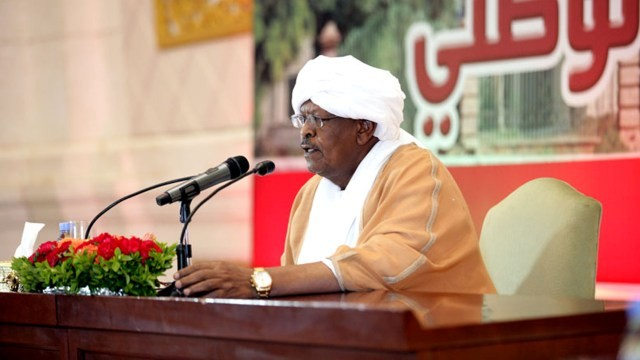 Sudan's First Vice-President and Prime Minister, Lt. Gen. Bakri Hassan Saleh announces the new government of National Accord on 11 May 2017 (SUNA)