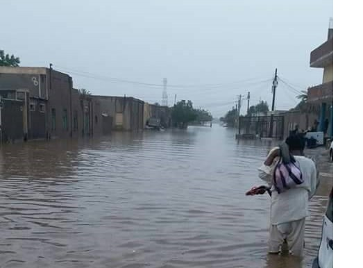 Flood in Atbara in Sudan's El Gedaref state this summer (RD correspondent)
