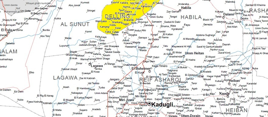 Delling locality (OCHA map of South Kordofan)