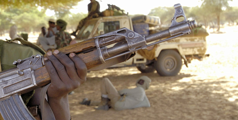 Militiamen in North Darfur (file photo)