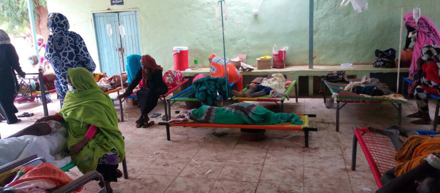 Cholera patients in Kosti, White Nile state, 24 May 2017 (File photo: RD correspondent)