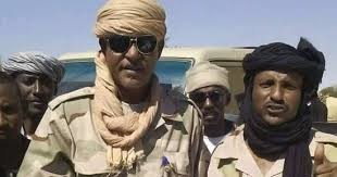 Musa Hilal (with glasses) in North Darfur (file photo)