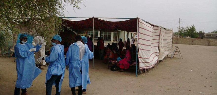 An improvised cholera ward in White Nile state (AP)