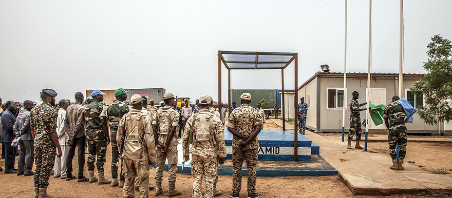 Unamid officially hands over its team site in El Malha, North Darfur, to the Government of Sudan in 2016 (Mohamad Almahady/Unamid)