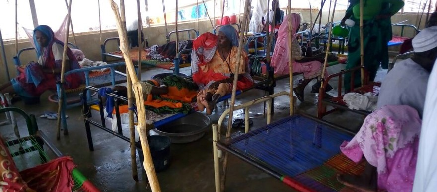 Cholera patients at Kalma camp in South Darfur in September (RD Correspondent)