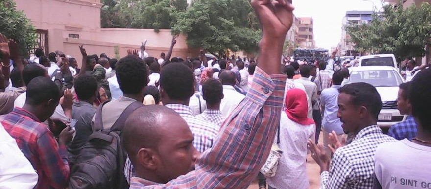 Sudanese students took to the streets in the national capital of Khartoum this month in protest against a court verdict condemning Asim Omar, a student at Khartoum University who was on trial on capital charges for allegedly killing a policeman (File photo: RD)
