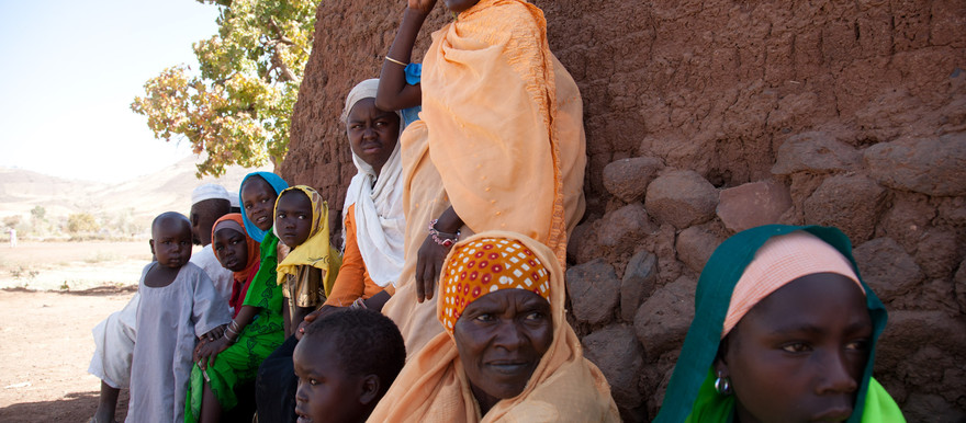 Women and children in Jawa village, East Jebel Marra in South Sudan (File photo)