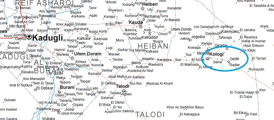 Kologi (UN OCHA map of South Kordofan)