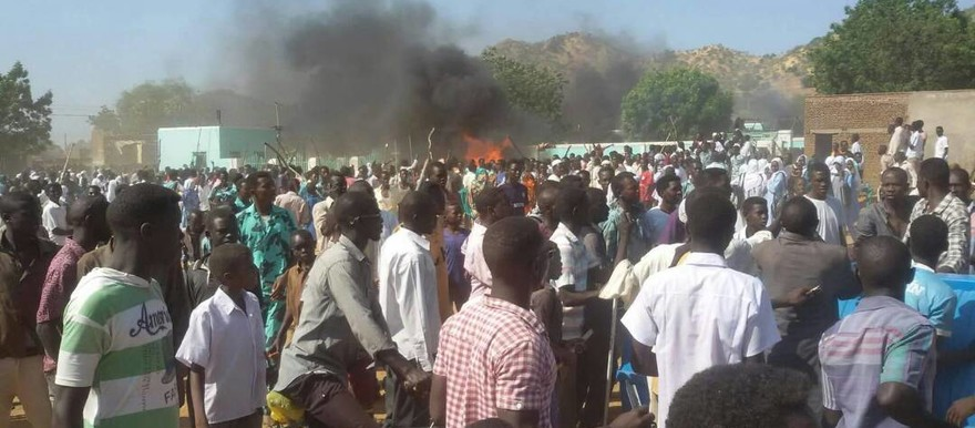 Protest against gold mining symposium in Kologi, South Kordofan, on 12 November 2017 (RD)