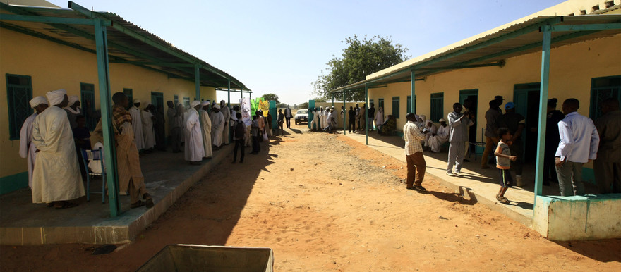 On 13 November 2017, Unamid handed over a health facility in Um Dawnban, Al Salaam locality, some 85 kilometres south of Nyala, South Darfur. The facility has been constructed through the Mission's Quick Impact Projects programme and will provide medical services to several localities in the area (Photo: Mutaz Munafal /Unamid)
